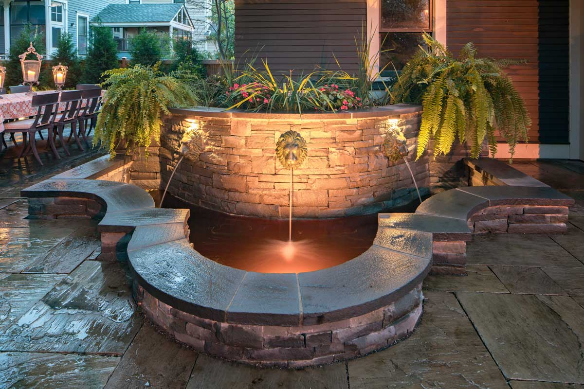 Arabella Stone Company Water Feature and Patio Image