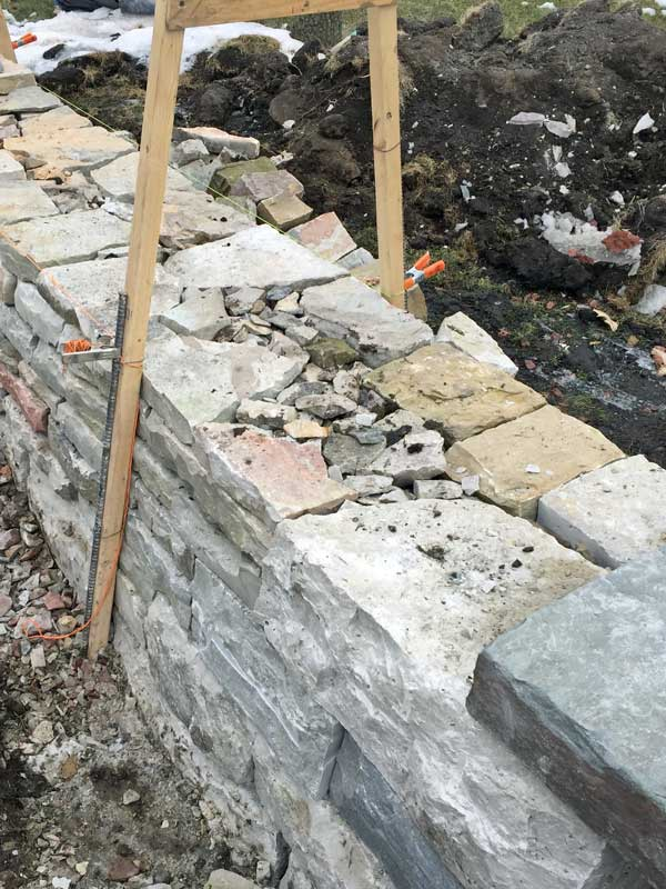 Drystone Retaining wall construction image