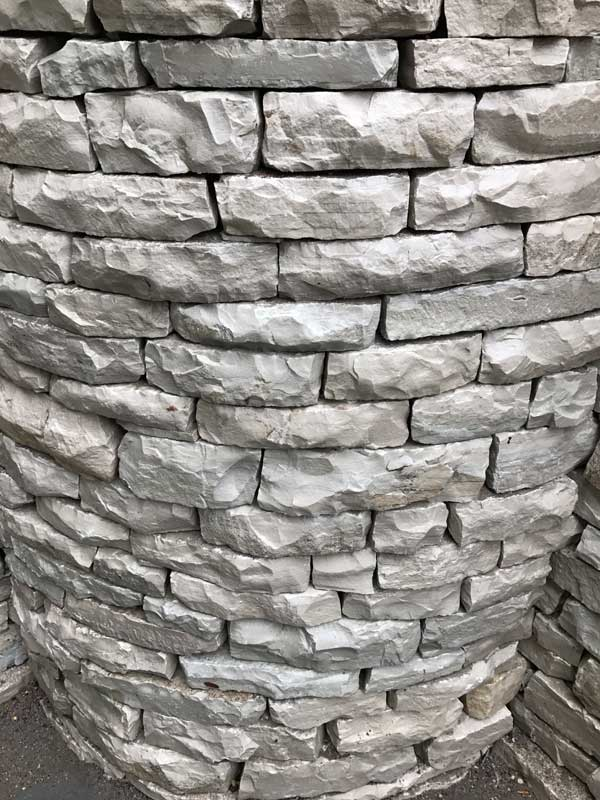 Detail Image of Curved Fond du Lac Drystone Retaining Wall