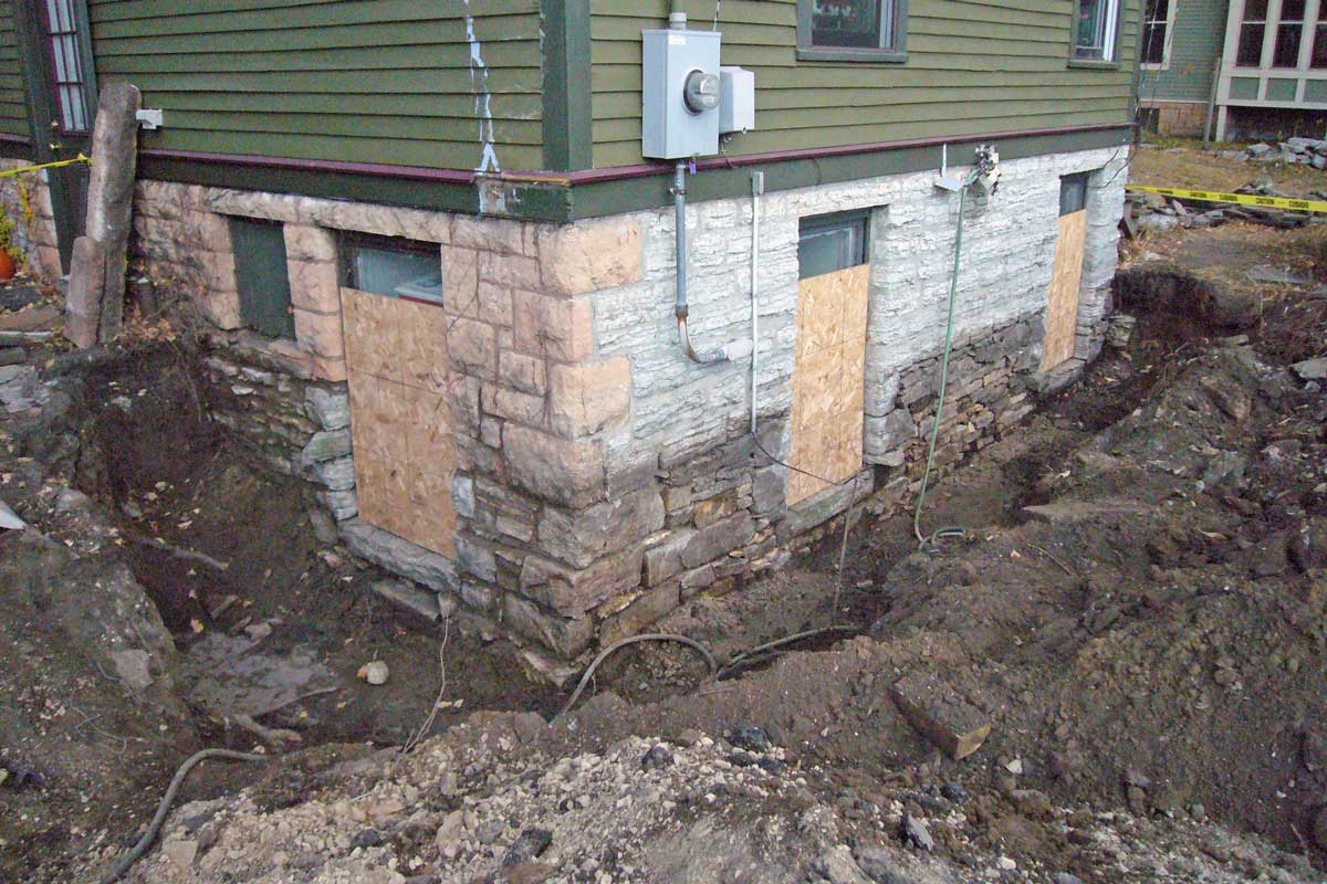 Stone Foundation Restoration