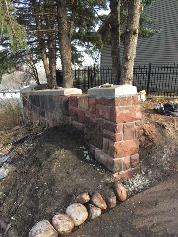 Restoration of stone wall