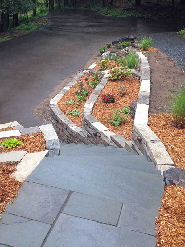 Nord Circle steps and retaining walls
