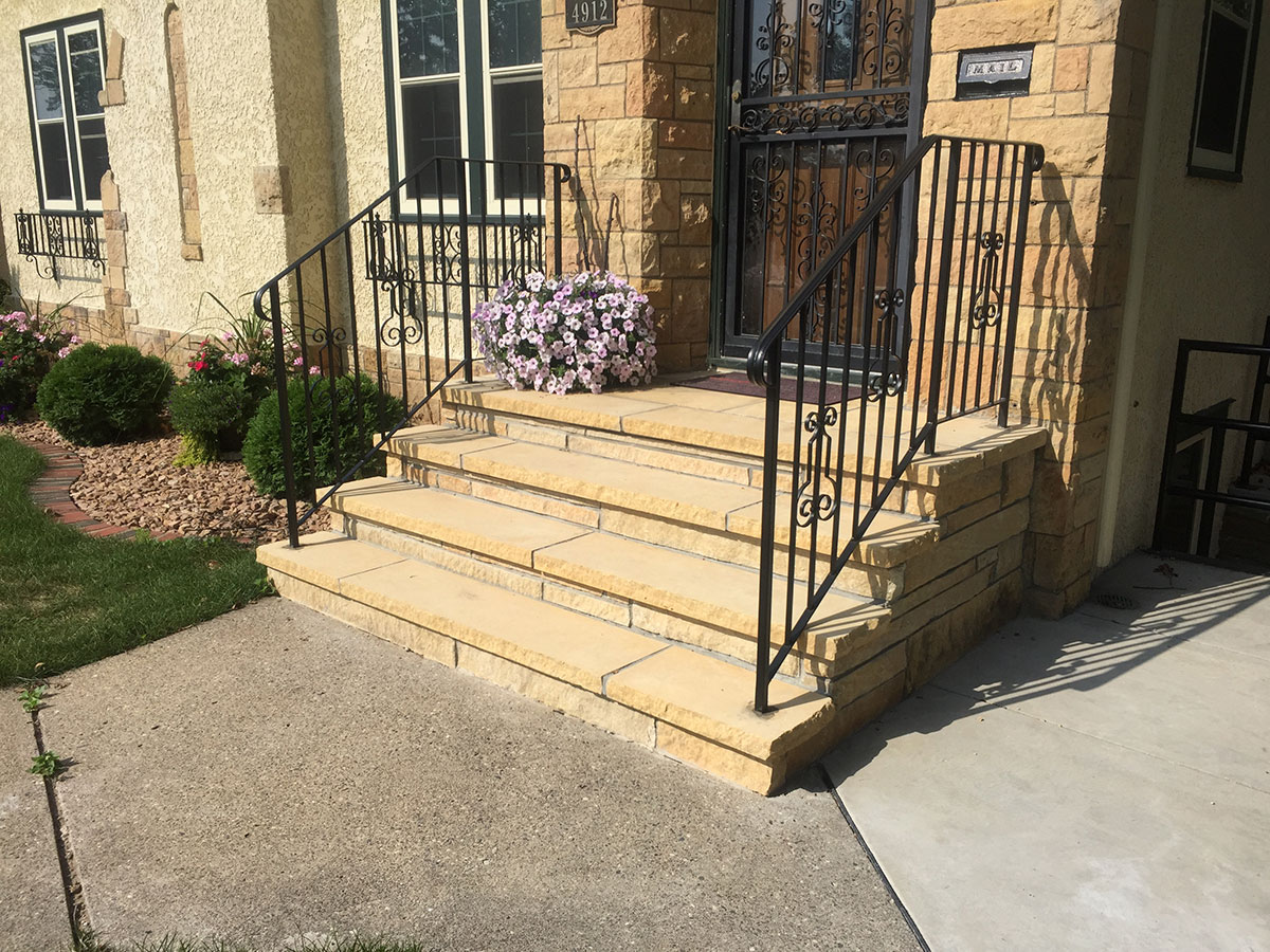 Stone front steps image