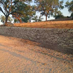 Drystone Construction Retaining Wall Image