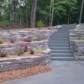Nord Circle Terraced Retaining Walls in North Oaks